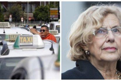 """Los taxistas madrileños: """"Carmena es una experta en decir una cosa y hacer la contraria"""""""