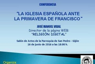 Conferencia de José Manuel Vidal en Gijón