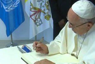 """El Papa en la sede del PMA: """"Que no nos deje dormir y nos haga soñar la lucha contra el hambre"""""""