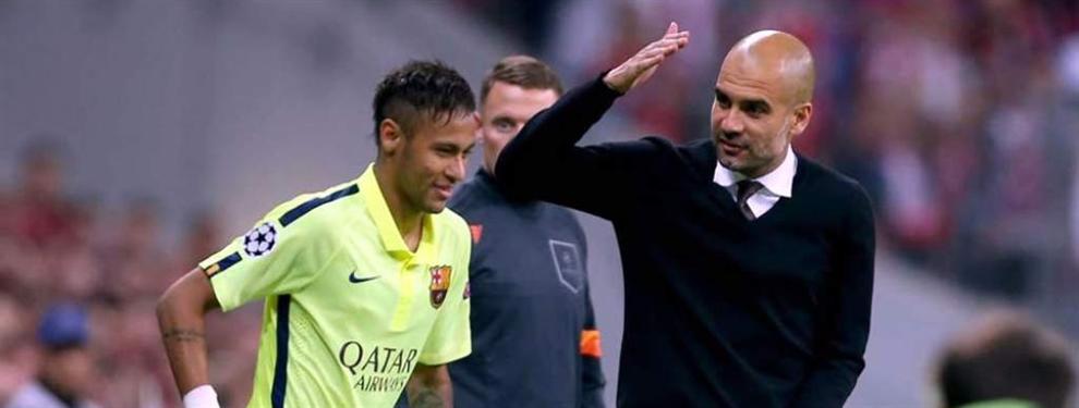 Guardiola se moja sobre el fichaje de Neymar por el City