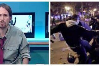 """El vídeo donde Pablo Iglesias babeaba con la paliza a un agente: """"Me emociona la agresión a un policía"""""""