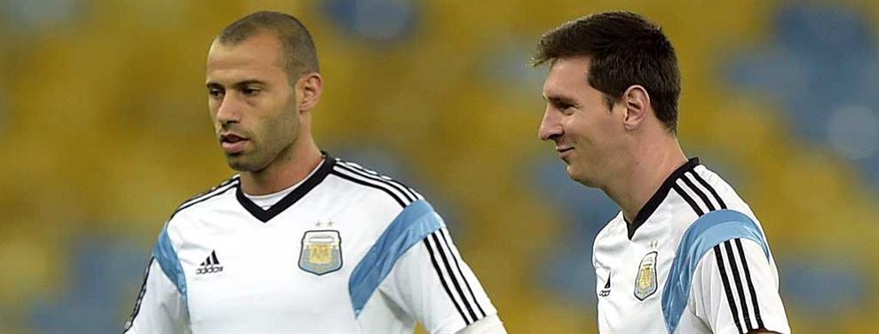 Javier Mascherano ya le dijo a Lionel Messi lo que piensa hacer