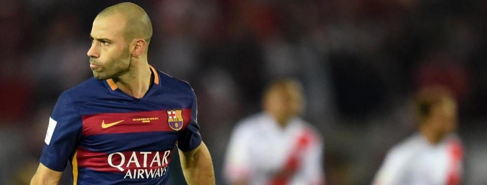 Los cinco motivos que producen que Mascherano quiera dejar Barcelona