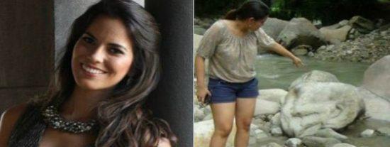 Miss Perú encuentra una pierna durante una sesión de fotos