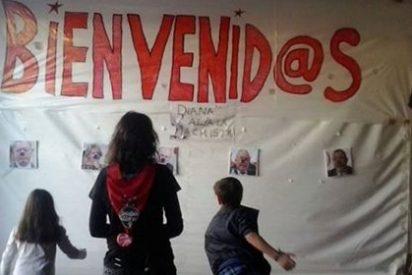 Podemos Móstoles pone a los niños a disparar contra políticos del PP como Aguirre o Gallardón