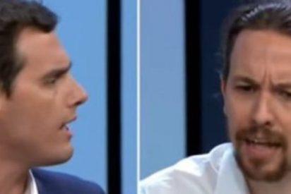 Albert Rivera restriega por la cara a Pablo Iglesias la 'sucia financiación' de Podemos