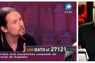 Ferreras se mofa de los saltos ideológicos de Iglesias...¡con un vídeo de Intereconomía!