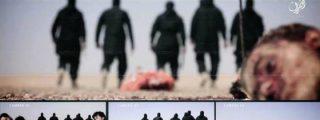 [VÍDEO SIN CENSURA] Con esta chulería decapita el ISIS a 5 reclutas... y clava sus cabezas en estacas