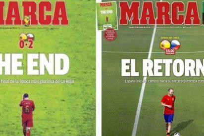 Marca 'pasa página' con una portada anterior y recibe con optimismo el debut de España en la Euro