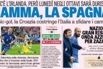 """EUROCOPA 2016 / Italia no olvida la final de 2012 y nos teme: """"¡Mamma, la Spagna!"""""""