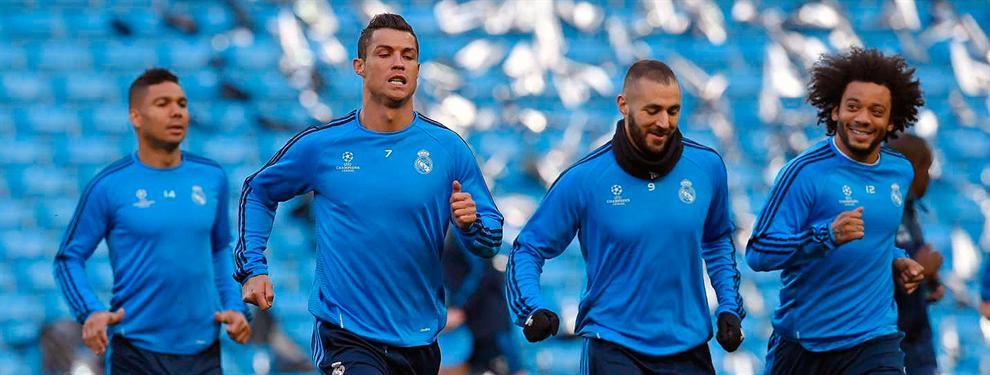 Primer 'gol' del vestuario del Real Madrid al club (con la ayuda de Zidane)