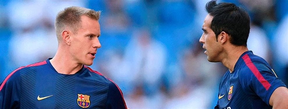 Ter Stegen le gana la partida a Claudio Bravo en el Barça 2016-17