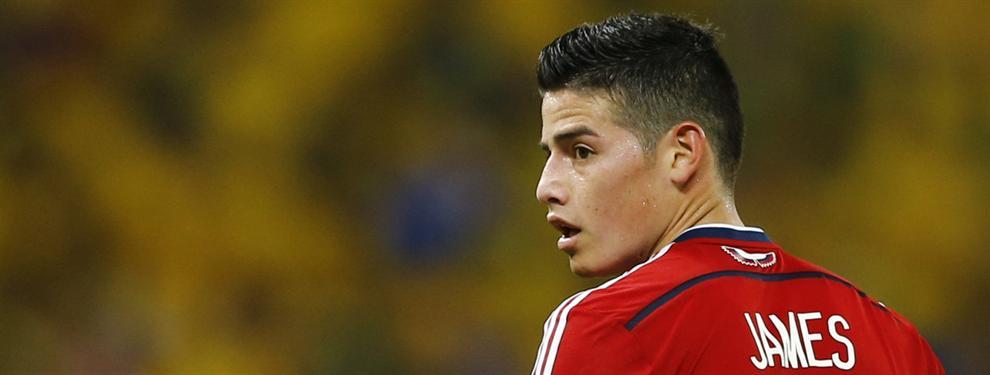 Tres destinos pactados para que James Rodríguez salga del Real Madrid