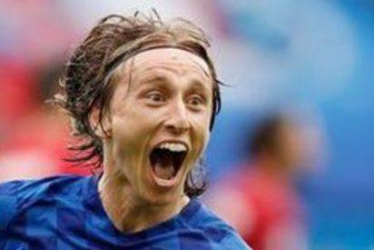 El croata Luka Modric (REAL MADRID) marca el gol de lo que va de Eurocopa 2016