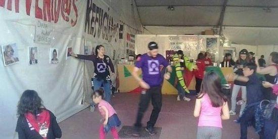 La chavista fiesta infantil de Podemos en Móstoles con tiro al blanco a políticos del PP