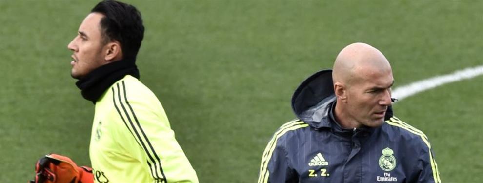 Zinedine Zidane tiene en sus manos el futuro de Keylor Navas