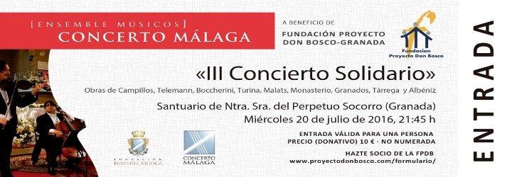 III Concierto Solidario a beneficio de la Fundación Proyecto Don Bosco Granada