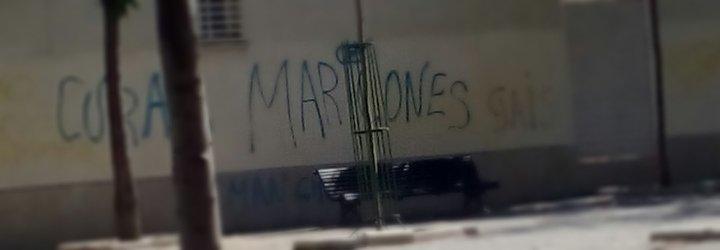 """Aparecen nuevas pintadas en la parroquia granadina de los """"Romanones"""""""