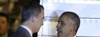 Felipe VI recibe a Barack Obama a pie de Air Force One