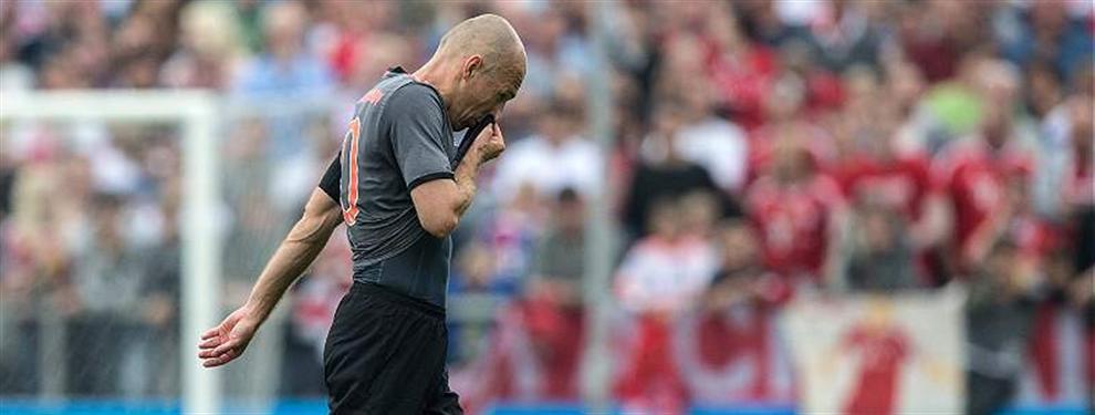 Arjen Robben padece nueva lesión