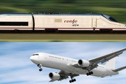 Los viajeros 'se tiran' al avión (un 11,9% más) y los de AVE crecen un 7,2%