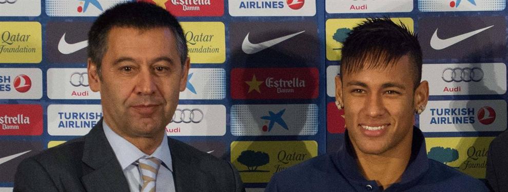 Bartomeu se limpia las manos en la renovación de Neymar