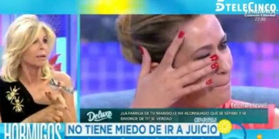 """Bibiana Fernández le da con la mano abierta a Olvido Hormigos: """"Tiene la lengua muy larga y la falda muy corta"""""""