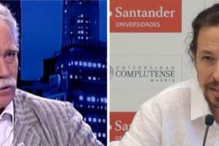 """Pérez Henares retrata el nuevo cambio de chaqueta de Iglesias: """"Hablaba de paz y amor y ahora de guerra y partisanos"""""""