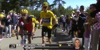 Valle-Inclán escribe el final: Froome pierde su bicicleta tras un accidente y acaba subiendo a pie
