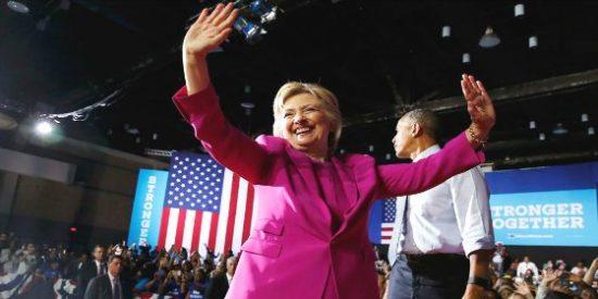 Hillary Clinton hace historia con mucha mano derecha: ya es candidata oficial a la Casa Blanca