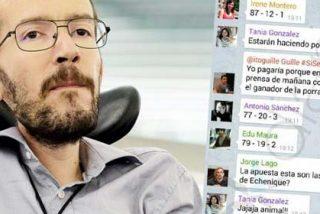 Así se mofaban algunos miembros del equipo de Pablo Iglesias de la discapacidad de Echenique