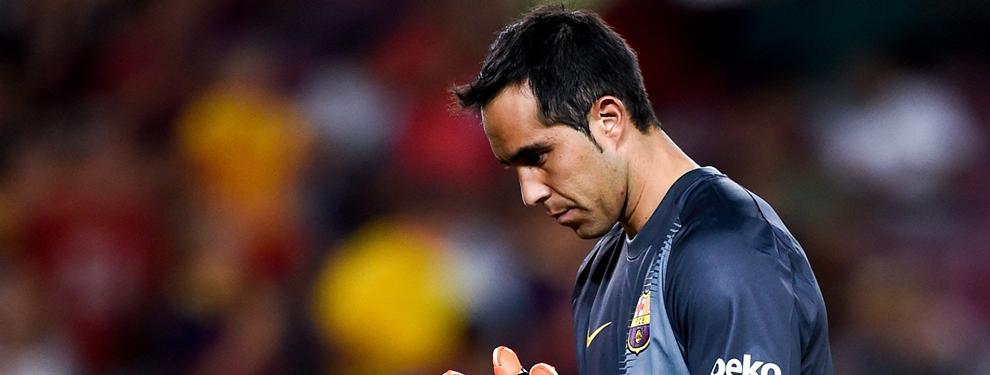 ¡Follón con Claudio Bravo! La jugada del Barça al chileno