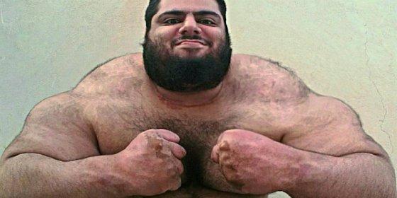 El 'increíble Hulk iraní' arrasa con sus hazañas en las redes sociales