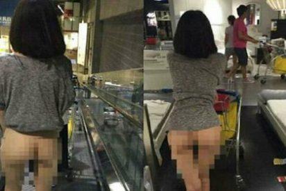 El misterioso caso de la mujer que compra en Ikea ¡con el culo al aire!