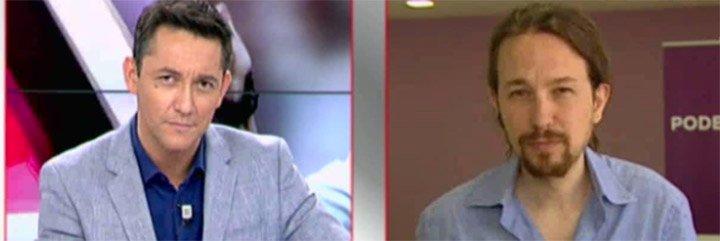 """Iglesias le dicta preguntas a Ruiz: """"No me has preguntado nada de Venezuela; ¿qué ha pasado?"""""""