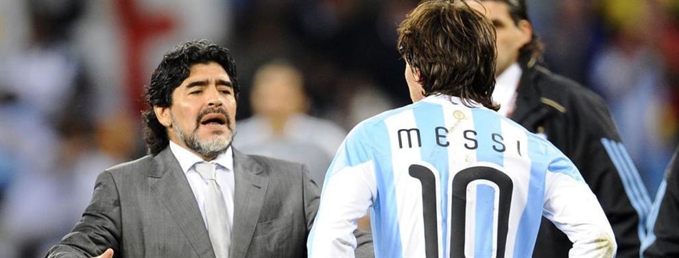 Leo Messi castiga a Maradona y no se le pone al teléfono