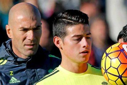 Lío entre James Rodríguez y Zidane en la previa del Real Madrid-Chelsea