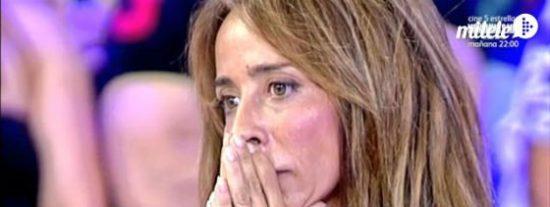 María Patiño delata a su amigo Lecquio como el amante de Olvido Hormigos y abandona el 'Deluxe' llorando