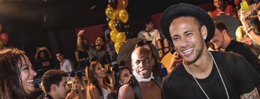 Neymar pasa del Barça para seguir disfrutando de la noche en Brasil