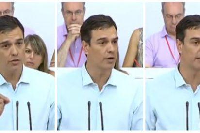 Pedro Sánchez se tapa 'por ahora' el culo y dice que votará no a Rajoy