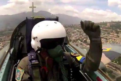 El garbeo sobre Caracas del chulo piloto de Maduro con su Sukhoi ruso