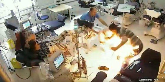 [VÍDEO] Con esta mala leche quema vivas a tres personas en un hospital