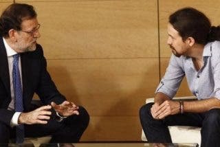 "Pablo Iglesias llega diez minutos tarde a su reunión con Rajoy: ""Madrid me mata"""
