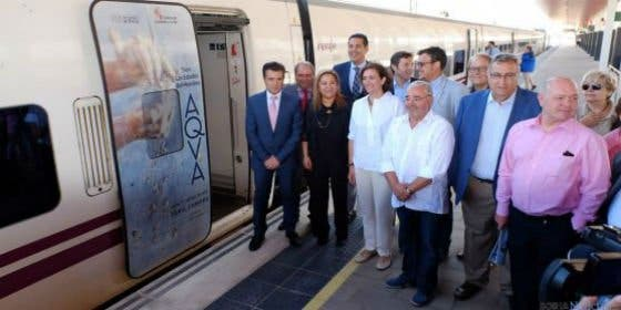 La Junta, RENFE y La Regional colaboran para acercar Madrid y Galicia a la exposición 'AQVA' con el 'Tren Las Edades del Hombre'