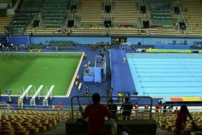 El agua de las piscinas de salto de los Juegos de Río se vuelve misteriosamente verde