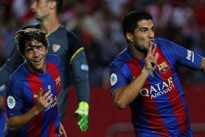 El Barça pulveriza al Sevilla y agarra un asa de la Supercopa de España (0-2)