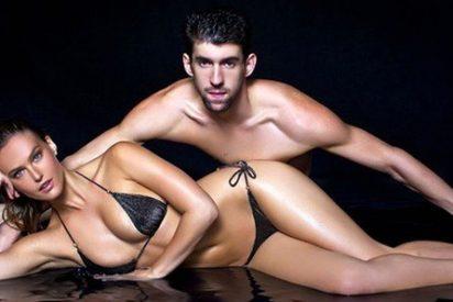 La caliente felicitación de la bella Bar Refaeli a 'Tiburón' Phelps