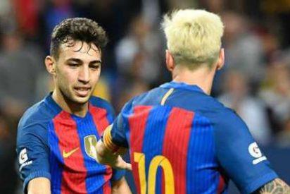 El Barça se impone al Leicester con el acierto de Messi y Munir