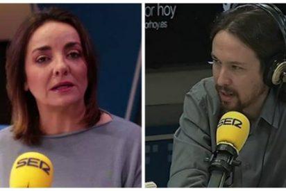 """(AUDIO) El chavista Pablo Iglesias sigue echando broncas a la SER: """"Yo comprendo Pepa que la línea la marque Cebrián"""""""