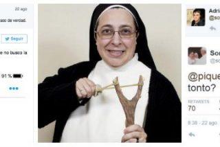 """La monja Caram se burla de un joven en Twitter: """"Con 35 seguidores das pena"""""""